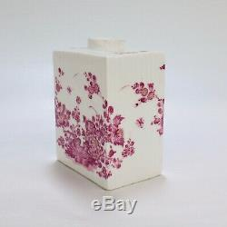 Antique 18ème Siècle Porcelaine De Meissen Violet Indian Tea Caddy Pc IDC