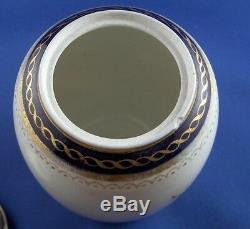 Antique 18thc Caughley Porcelaine Salopian Tea Caddy Jar Anglais Angleterre Teedose