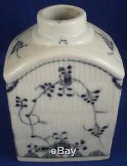 Antique 18thc Wallendorf Porcelaine Immortelle Tea Caddy / Pot Porzellan Teedose