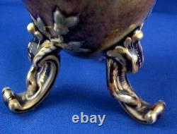 Antique 19thc Kpm Berlin Seger Glaze Porcelaine Thé Caddy Jar Porzellan Teedose