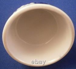 Antique Allemand Porcelaine Strawflower Tea Caddy Jar LID Porzellan Deckel Allemagne