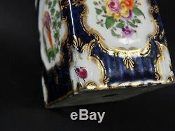 Antique Anglais Première Période Dr Mur Worcester À Thé En Porcelaine Caddy Circa 1770