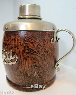 Antique Caddy Victorienne Tea De 1800 Avec Poignée Et Couvercle En Bois Epns Porcelaine Ornée