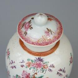 Antique Chinese Export À Thé En Porcelaine Caddy 18 E -19 C