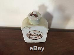 Antique Chinese Export À Thé En Porcelaine Caddy Paysage 18 Marché Américain C