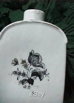 Antique Chinese Export Lowestoft 18ème Siècle Porcelaine Et Teapot Tea Caddy