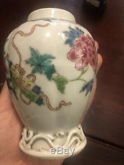 Antique Chinese Export Porcelaine 18ème Siècle Motif Floral