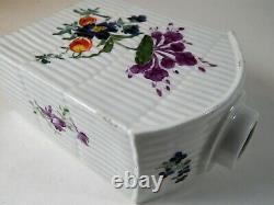 Antique Chinois Ou Anglais Porcelaine Thé Caddy Deutsche Blumen 18ème / 19ème C
