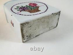 Antique Chinois Ou Européen Porcelaine Thé Caddy Deutsche Blumen 18ème / 19ème C