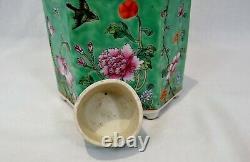 Antique Chinois Porcelaine Thé Caddy République Période Ex Cond
