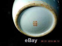 Antique Chinois Qianlong Ginger Pot De Thé En Porcelaine Femmes Jardin