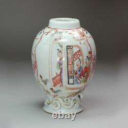 Antique Famille Chinoise Rose Caddie, Qianlong (1736-95)