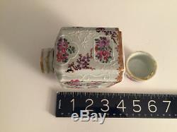 Antique Français Du 19ème Siècle Porcelaine Décorative Armorial Tea Caddy Edme Samson