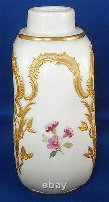 Antique Kpm Berlin Porcelaine Neuzierat Tea Caddy / Jar Porzellan Teedose Dose