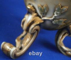 Antique Kpm Berlin Seger Glaze Porcelaine Thé Caddy Jar Porzellan Tee Dose Vase