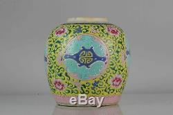Antique Porcelaine Chinoise Jar 18/19 C. Se Asie Straits Marché Benchar