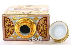 Antique Royale De Porcelaine De Vienne Portrait Peint À La Main Tea Caddy Vase & Mk Sg