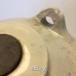 Antique Rustique Japonaise Sake Jar Jug Barrel Cask Porcelaine Bleu