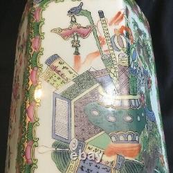 Antiques Chinois En Porcelaine Famille Médaillon Rose Grand 10 Tea Caddy Qing