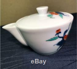 Arita Porcelaine Wanwan Iwa-pivoine Taoyuan Gyokuro Tea Set