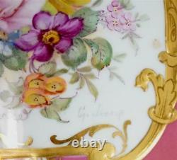Bd C1933 Royal Crown Derby Porcelain Vase Tea Caddy Painted By George Jessop