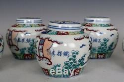 Beau Clash Chinois Couleur Porcelaine Huit Immortels Thé Caddies