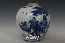 Beaux Beau Bleu Chinois Et Porcelaine Blanche Caractères Thé Caddies