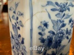 Beaux Chinois Kangxi Période À Thé En Porcelaine Caddy