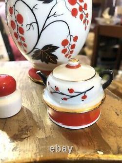 Belle Caddy De Thé De Porcelaine Russe Vintage