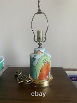 Belle Feuille De Tabac Porcelaine Pot De Tabac Tea Jar Caddy Lampe De Table 16