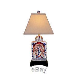 Belle Porcelaine Imari Motif Tea Caddy Lampe De Table 18
