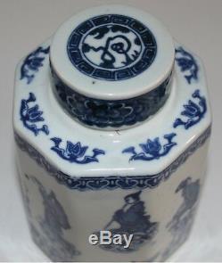Bleu Chinois Et Blanc En Porcelaine Kangxi Mark