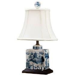 Blue Orientale Chinoise Et Bleu Blanc Blanc Blanc Bleu Willow Porcelaine 17 X 10 X 8