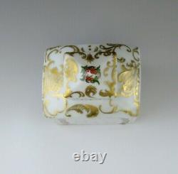 Bouteille De Caddy À Thé Gilt De Porcelaine Florale Européenne Antique