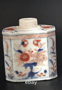 C. 18ème Chines Kangxi Période Imari Porcelaine Thé Caddy Avec Décorations Florales