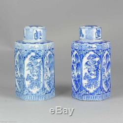 Ca 1950-1970 Proc Période Chinois Vases En Porcelaine