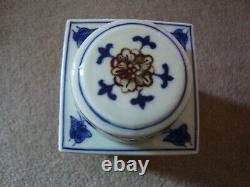 Caddie Chinois De Thé En Céramique Avec La Marque De Caractère De 6 Pièces À La Base 21/373