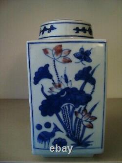 Caddy Chinois De Thé En Porcelaine Avec 6 Pièces Marque De Caractère À La Base 21/373
