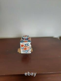 Caddy De Thé Imari Japonais Antique Victorien