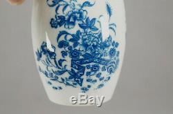 Caughley Clôture Motif Bleu Et Blanc Porcelaine Tea Caddy 1775-1790