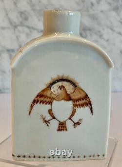 Chine Export Sepia American Eagle Tea Caddy 19th Century