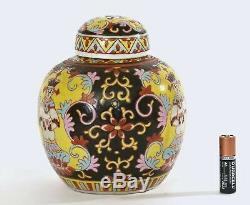 Chinese Export Thai Famille Rose Benjarong Bencharong À Thé En Porcelaine Caddy Bouddha