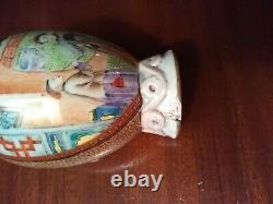 Chinois Exporter Le Thé Caddy Porcelaine Mandarin Rose