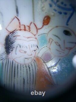 Chinois Peint À La Main Famille Rose Porcelaine Thé Caddy Jar