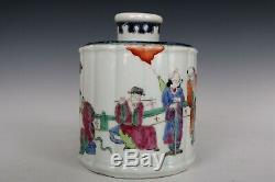 Chinoise Belle Famille Rose Porcelaine Huit Immortels Thé Caddies