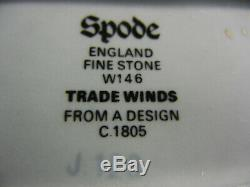 Copeland Spode Blue Trade Winds W146 Tea Caddy Avec Couvercle