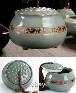 Ensemble De Thé Complet Pot De Thé En Porcelaine Gaiwan Tureen Pichet Chadao Boîte À Thé Tasse De Thé
