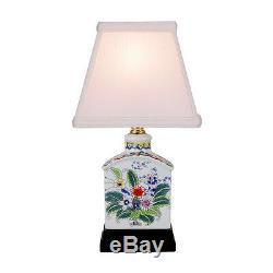 Floral Style À Thé En Porcelaine Caddy Lampe De Table 13
