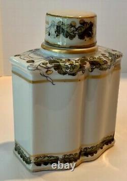 Français Samson Armorial Horatio Nelson San Josef Tea Caddy Avec Cover Vers 1880