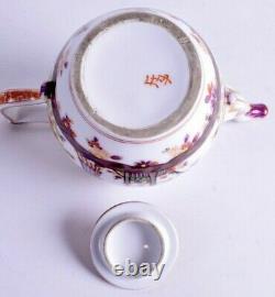 Grand 18ème Siècle Porcelaine De Meissen Chinoiserie Tea Pot Mark Rarissime